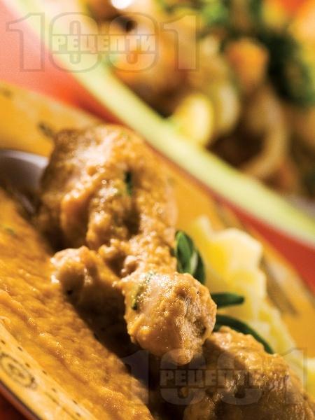 Пилешки бутчета със зеленчуков сос - снимка на рецептата